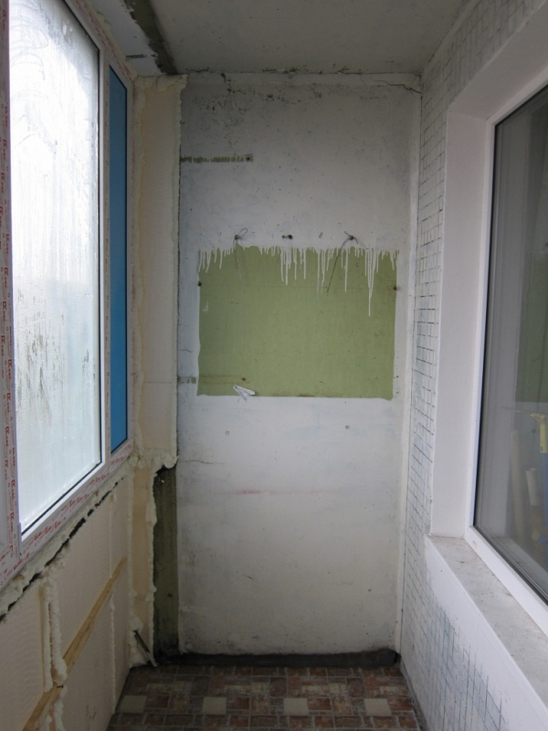 Пример утепления балкона в серии пм.