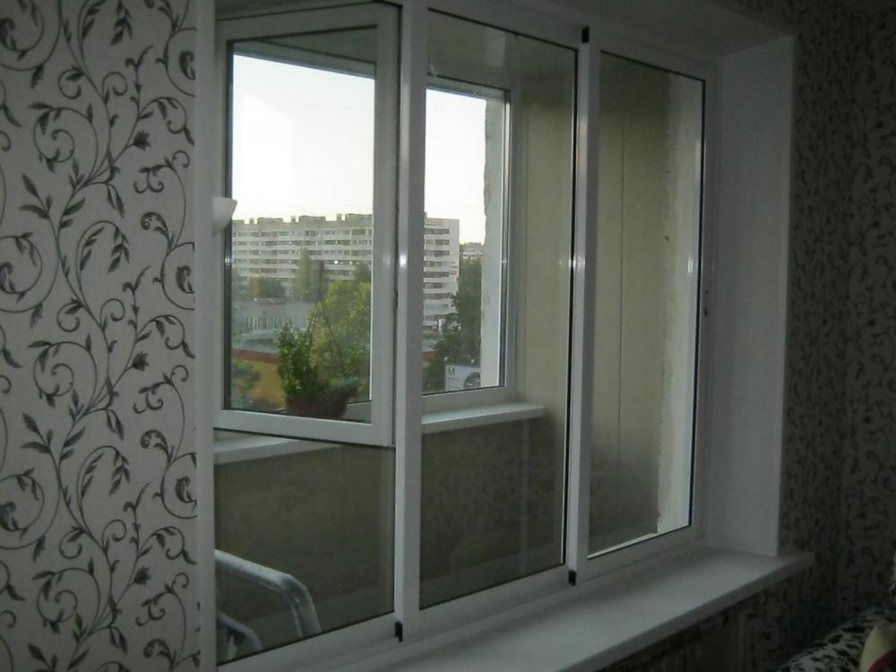 Раздвижное окно в доме winart, спб.