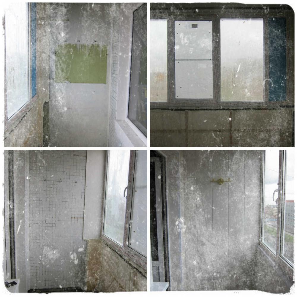 Отделка и остекление лоджии пластиковыми окнами пвх в панель.